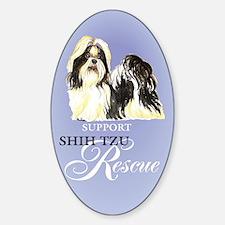 Shih Tzu Rescue Oval Decal