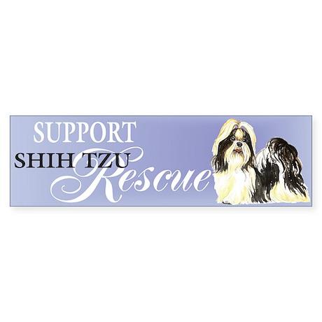 Shih Tzu Rescue Bumper Sticker