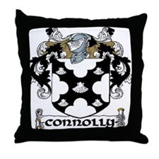 Connolly Coat of Arms Throw Pillow