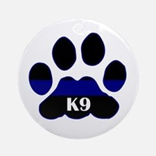 K9 Thin Blue Ornament (Round)