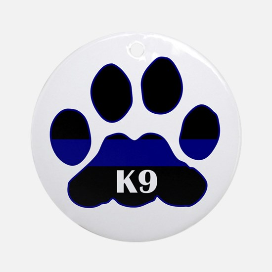 K9 Thin Blue Ornament (Round)