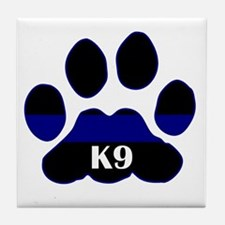 K9 Thin Blue Tile Coaster