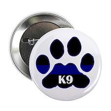 "K9 Thin Blue 2.25"" Button"