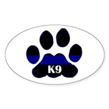 K9 Thin Blue Oval Decal