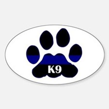 K9 Thin Blue Oval Stickers