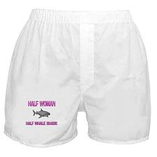 Half Woman Half Whale Shark Boxer Shorts