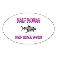 Half Woman Half Whale Shark Oval Decal