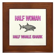 Half Woman Half Whale Shark Framed Tile