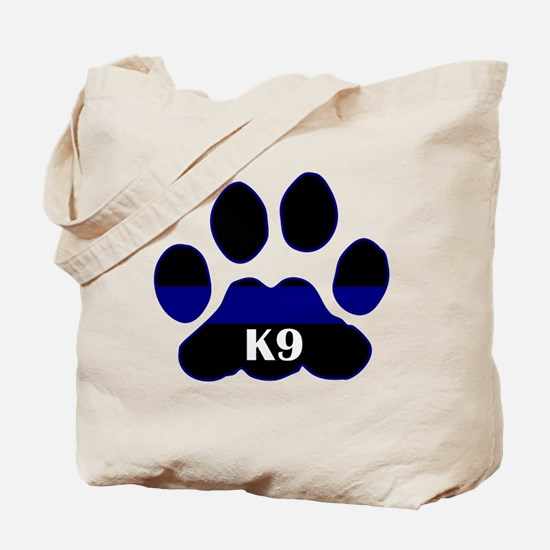 K9 Thin Blue Tote Bag