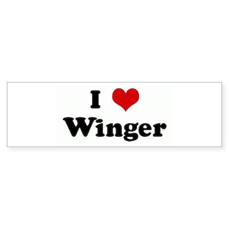 I Love Winger Bumper Sticker