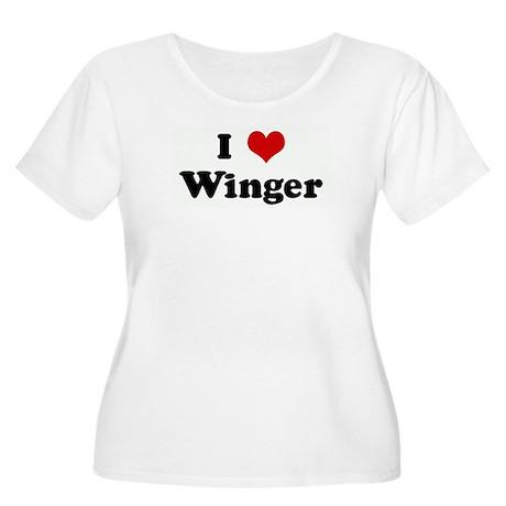 I Love Winger Women's Plus Size Scoop Neck T-Shirt
