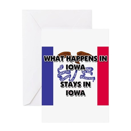 What Happens In IOWA Stays There Greeting Card