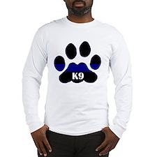 K9 Thin Blue Long Sleeve T-Shirt