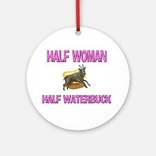 Half Woman Half Waterbuck Ornament (Round)