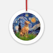 Starry Night Vizsla Ornament (Round)