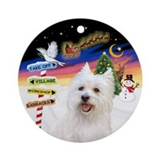 Xsigns-West Highland Terrier Ornament (round)