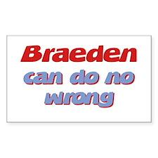 Braeden Can Do No Wrong Rectangle Decal