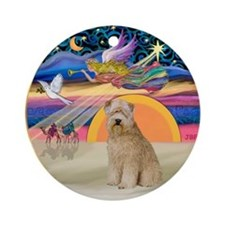 XmasStar-Wheaten Terrier (#8) Ornament (Round)