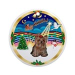 XmasMusic3-Yorkshire Terrier 11 Ornament (Round)