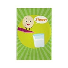 Milk and Cookie Rectangle Magnet