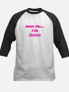 Trust Me I'm Olivia Kids Baseball Jersey