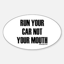 Car Not Mouth Oval Decal