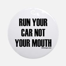 Car Not Mouth Ornament (Round)