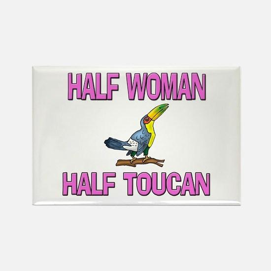 Half Woman Half Toucan Rectangle Magnet