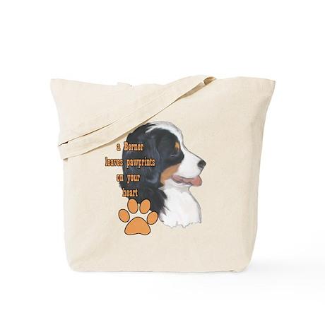 Berner pawprints Tote Bag