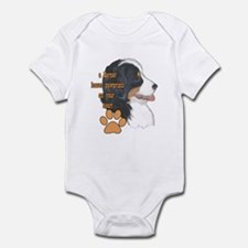Berner pawprints Infant Bodysuit