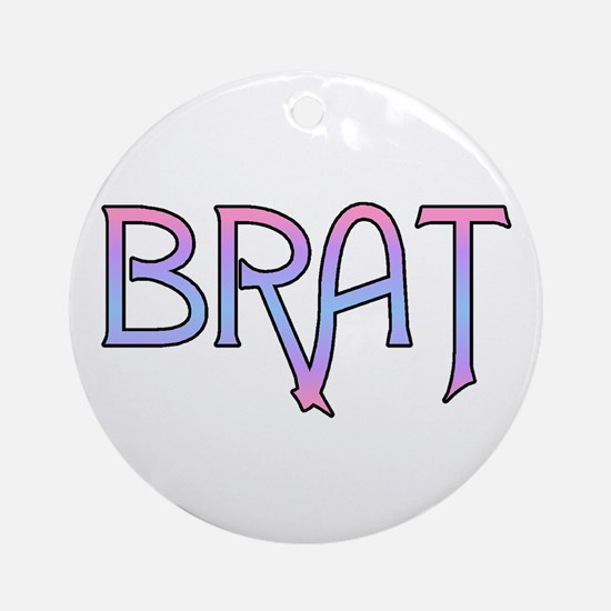 Brat Ornament (Round)