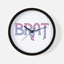 Brat Wall Clock