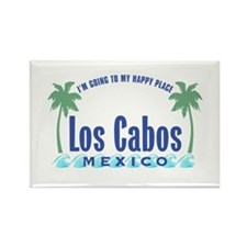 Los Cabos Happy Place - Rectangle Magnet