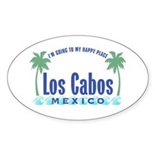 Los Cabos Happy Place - Oval Decal