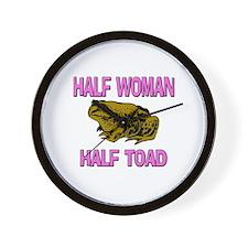 Half Woman Half Toad Wall Clock