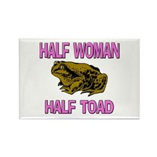 Half Woman Half Toad Rectangle Magnet