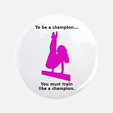"Gymnastics 3.5"" Button - Champion"