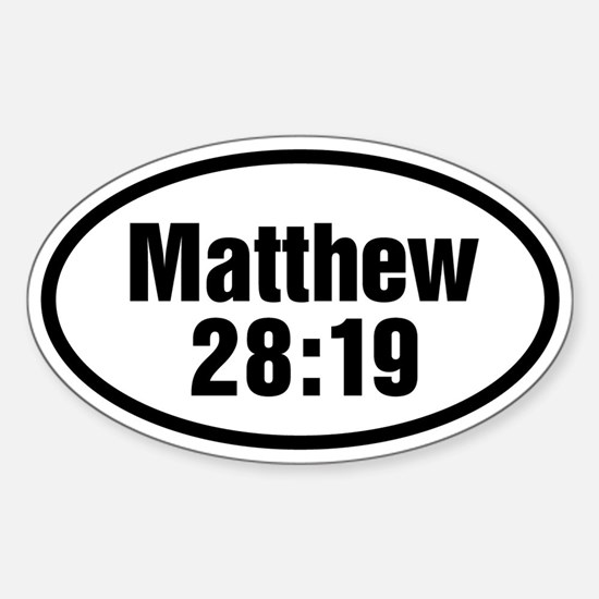 Matthew 28:19 Oval Oval Decal