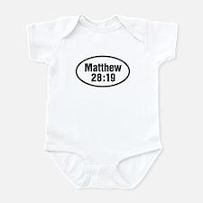 Matthew 28:19 Oval Infant Bodysuit