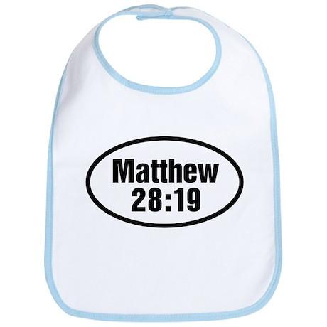 Matthew 28:19 Oval Bib