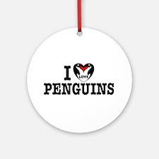 I Love Penguins Keepsake (Round)