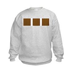 Brown And Yellow Latticework Sweatshirt