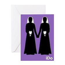 """I Do"" Brides Purple Card"