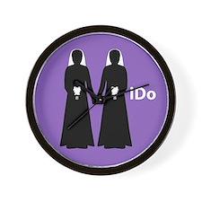"""I Do"" Brides Purple Wall Clock"