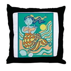 Sweet Mama Mermaid Throw Pillow