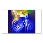 ALIEN LAND RIDE - ART Rectangle Sticker 50 pk)