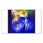 ALIEN LAND RIDE - ART Rectangle Sticker 10 pk)