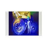 ALIEN LAND RIDE - ART Rectangle Magnet