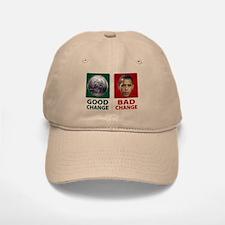 Obama: Bad Change Baseball Baseball Cap