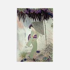 """""""Geisha in the garden"""" Rectangle Magnet"""